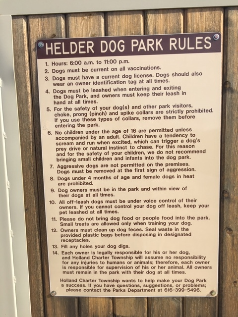 Helder Dog Park Rules1